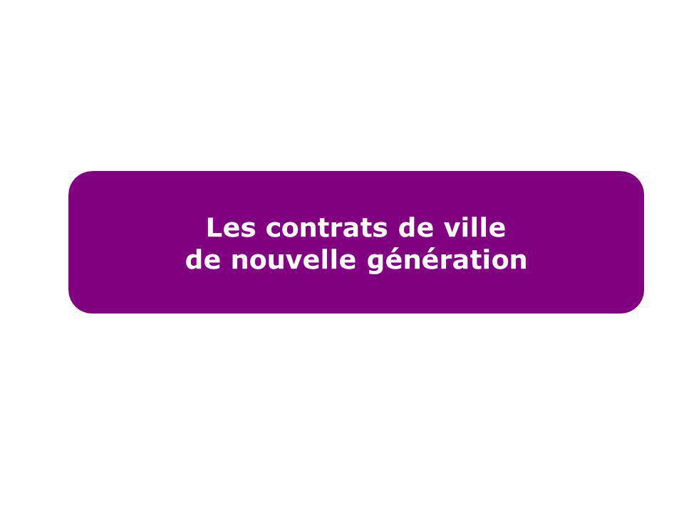 Les contrats de ville de nouvelle génération