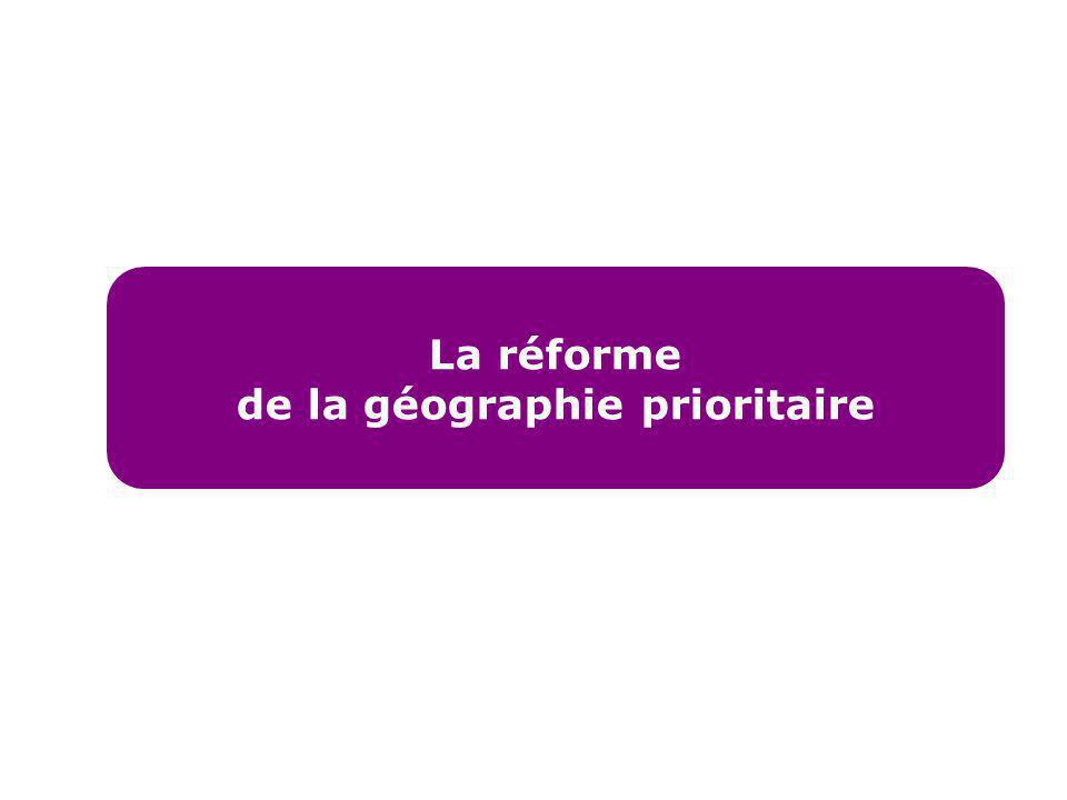 La réforme de la géographie prioritaire