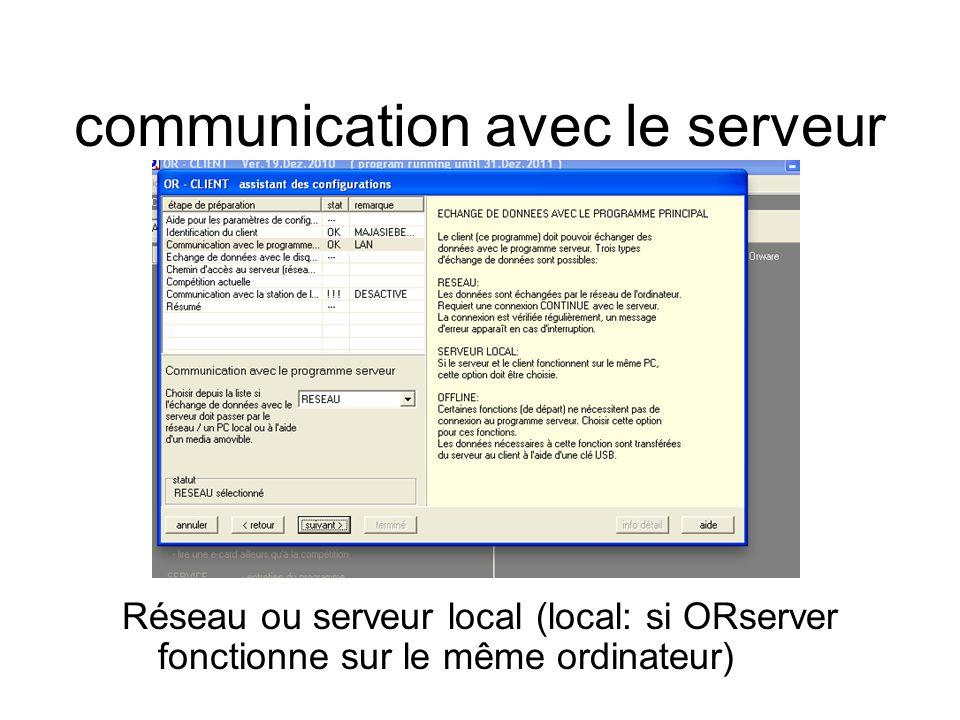 chemin d'accès au serveur Chercher le serveur (classeur picOR) par browsing ou bien manuellement