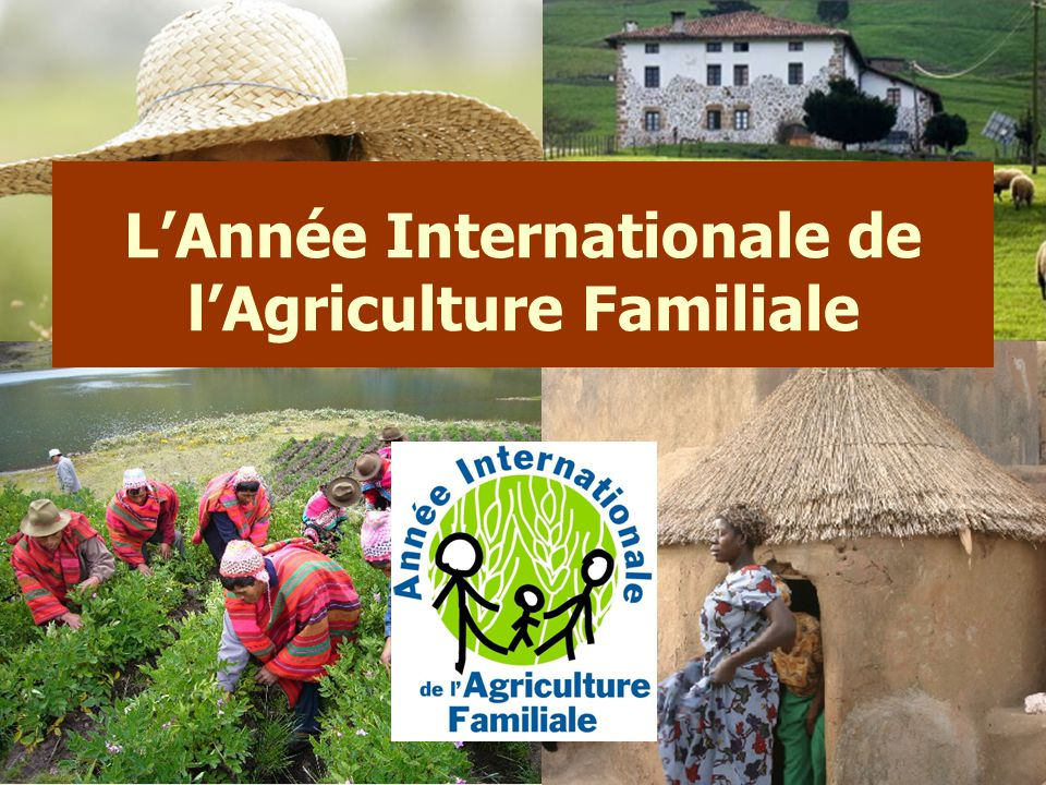 L'Année Internationale de l'Agriculture Familiale