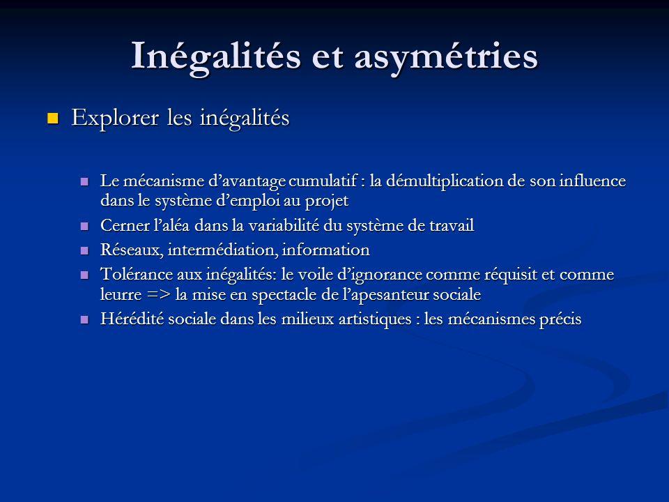 Inégalités et asymétries Explorer les inégalités Explorer les inégalités Le mécanisme d'avantage cumulatif : la démultiplication de son influence dans