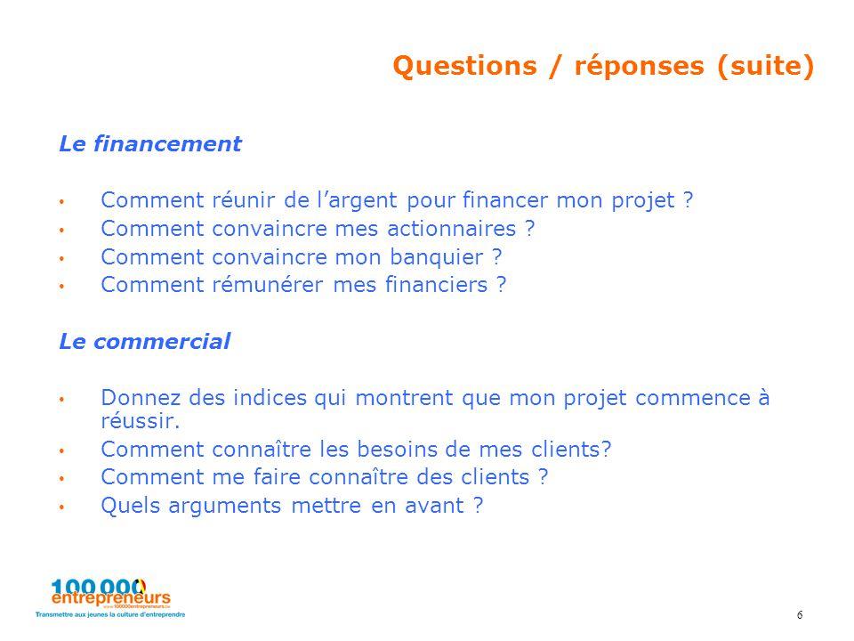Le financement Comment réunir de l'argent pour financer mon projet .