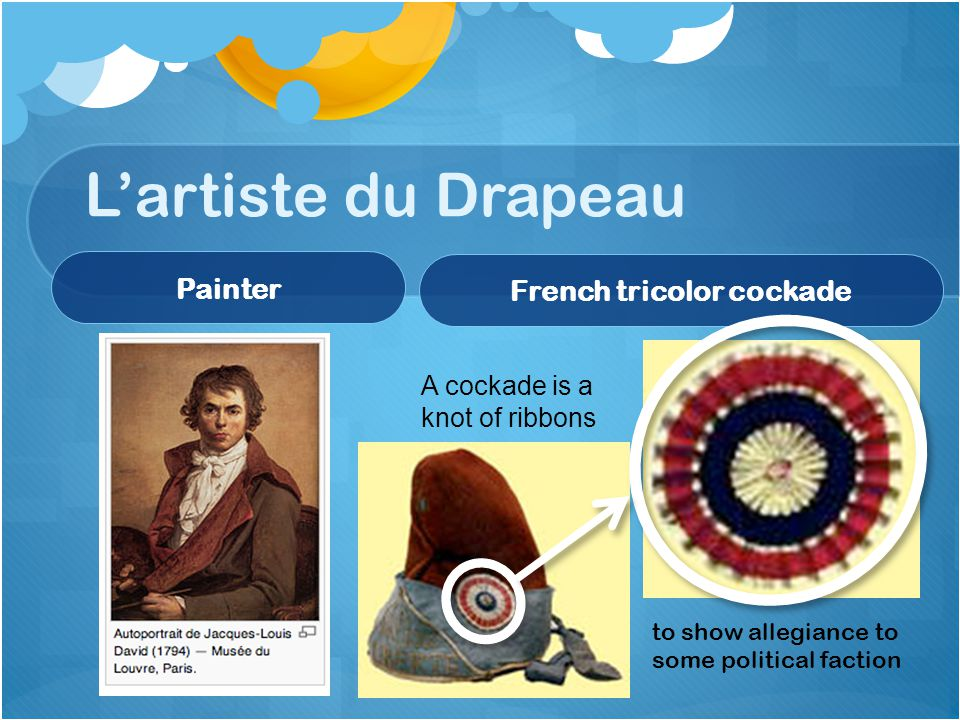 L'artiste du Drapeau Painter French tricolor cockade A cockade is a knot of ribbons to show allegiance to some political faction