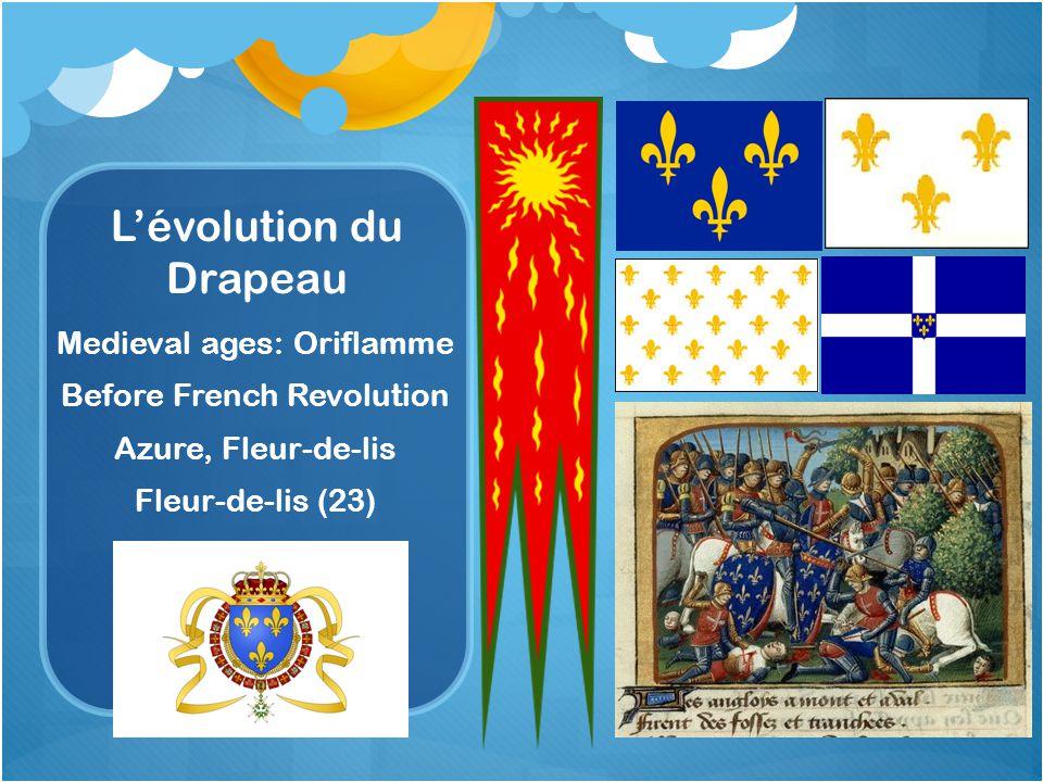 L'évolution du Drapeau Medieval ages: Oriflamme Before French Revolution Azure, Fleur-de-lis Fleur-de-lis (23)