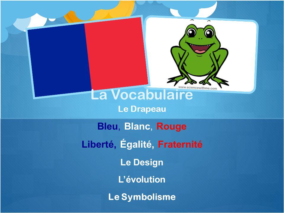 Le Drapeau Bleu, Blanc, Rouge Liberté, Égalité, Fraternité Le Design L'évolution Le Symbolisme La Vocabulaire