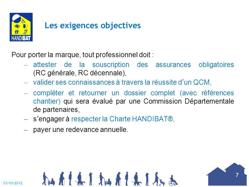 La Charte HANDIBAT® Les professionnels s'engagent à respecter une Charte avec 3 engagements et 9 exigences.