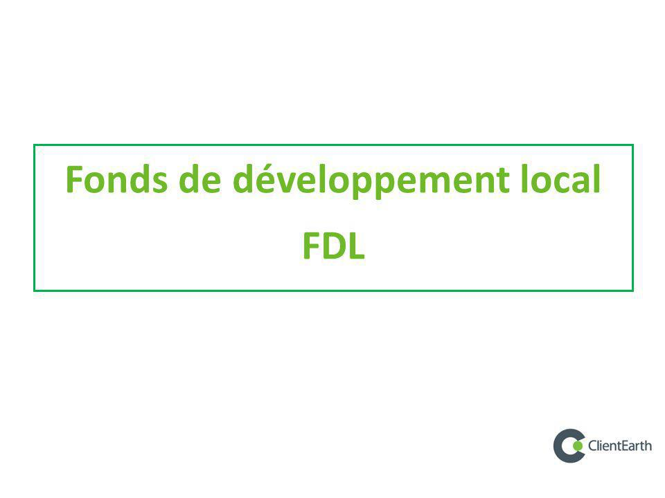 Fonds de développement local FDL