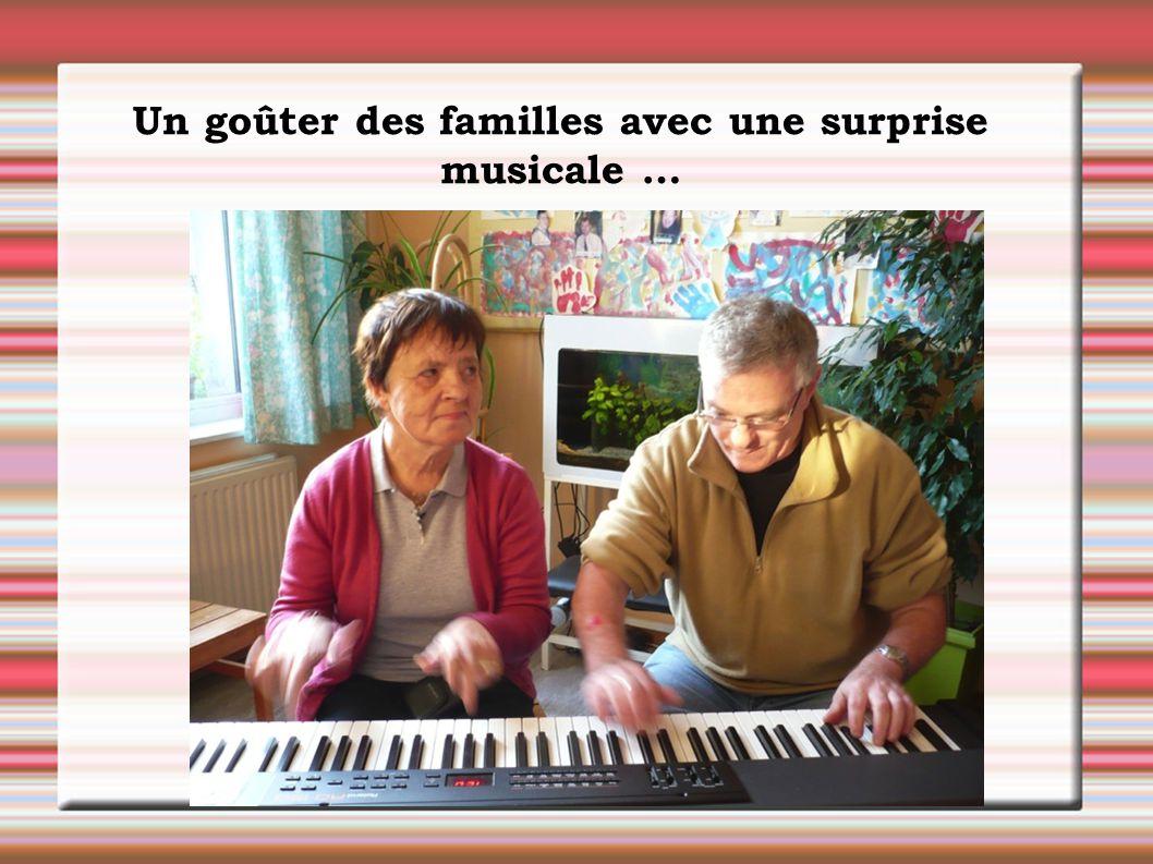 Un goûter des familles avec une surprise musicale …