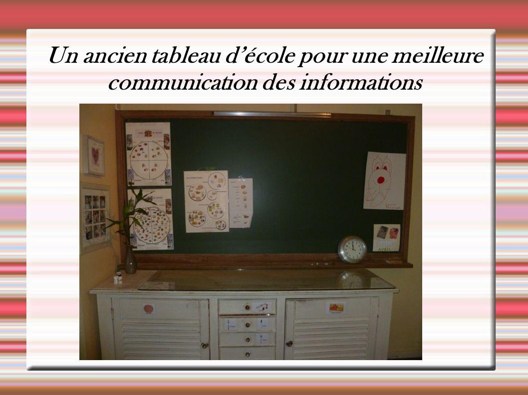 Un ancien tableau d'école pour une meilleure communication des informations