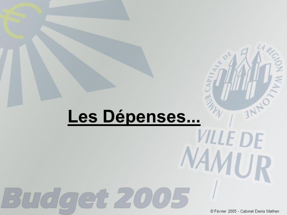 © Février 2005 - Cabinet Denis Mathen Les Dépenses...
