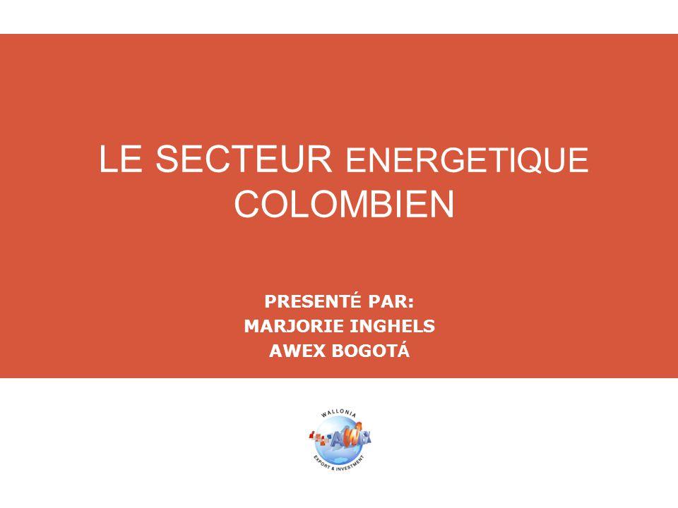 LE SECTEUR ENERGETIQUE COLOMBIEN PRESENT É PAR: MARJORIE INGHELS AWEX BOGOT Á