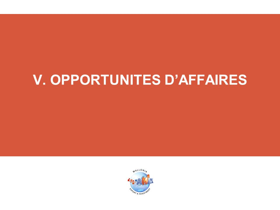 V. OPPORTUNITES D'AFFAIRES