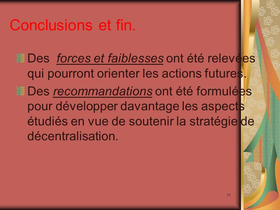 11 Conclusions et fin.