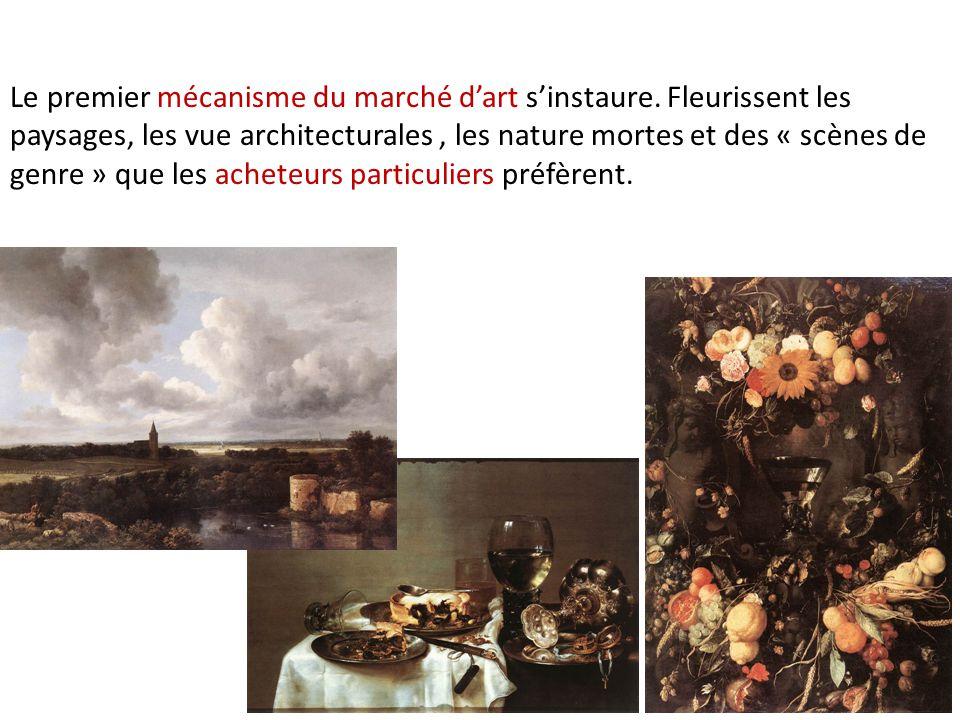 Le premier mécanisme du marché d'art s'instaure.