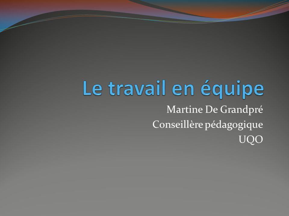 Martine De Grandpré Conseillère pédagogique UQO
