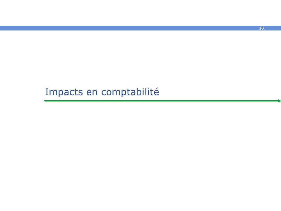 10 Impacts en comptabilité