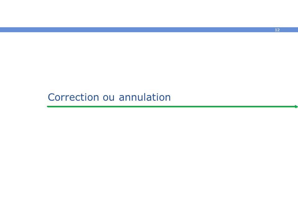 12 Correction ou annulation