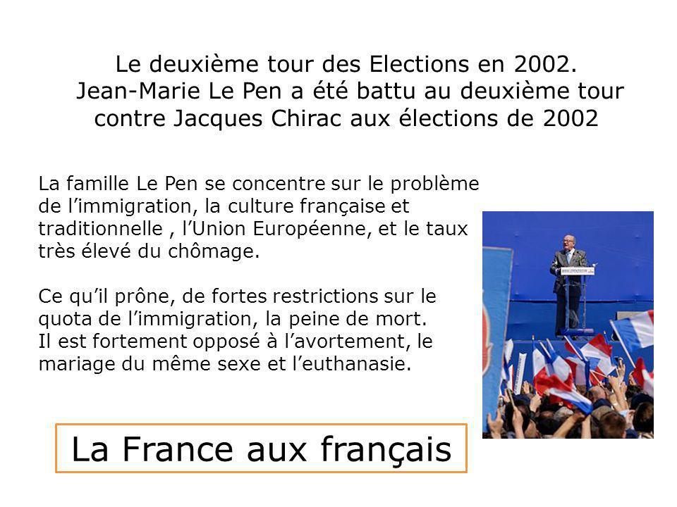 Le deuxième tour des Elections en 2002.