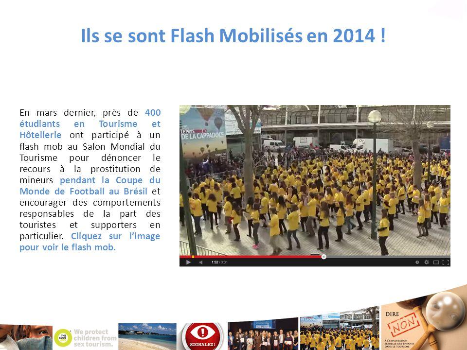 Ils se sont Flash Mobilisés en 2014 ! En mars dernier, près de 400 étudiants en Tourisme et Hôtellerie ont participé à un flash mob au Salon Mondial d