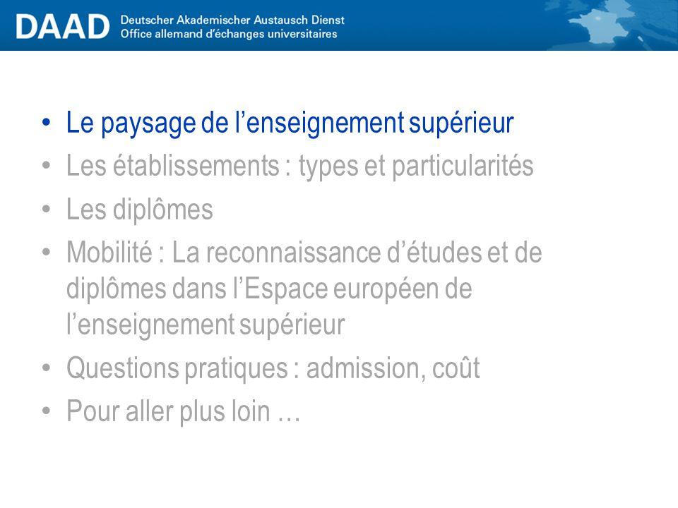 Le système de l'enseignement supérieur allemand Kilian Quenstedt Service d'information et de documentation DAAD Paris