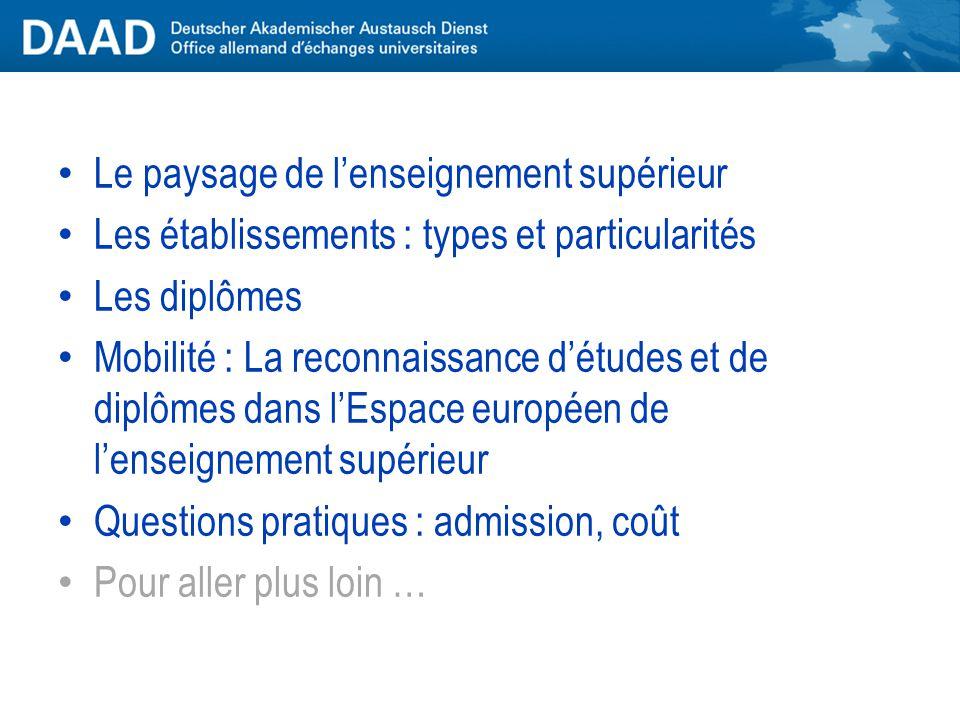 Il existe des accords gouvernementaux franco-allemands « sur les dispenses de scolarité, d'examens et de diplômes pour l'admission aux études universi