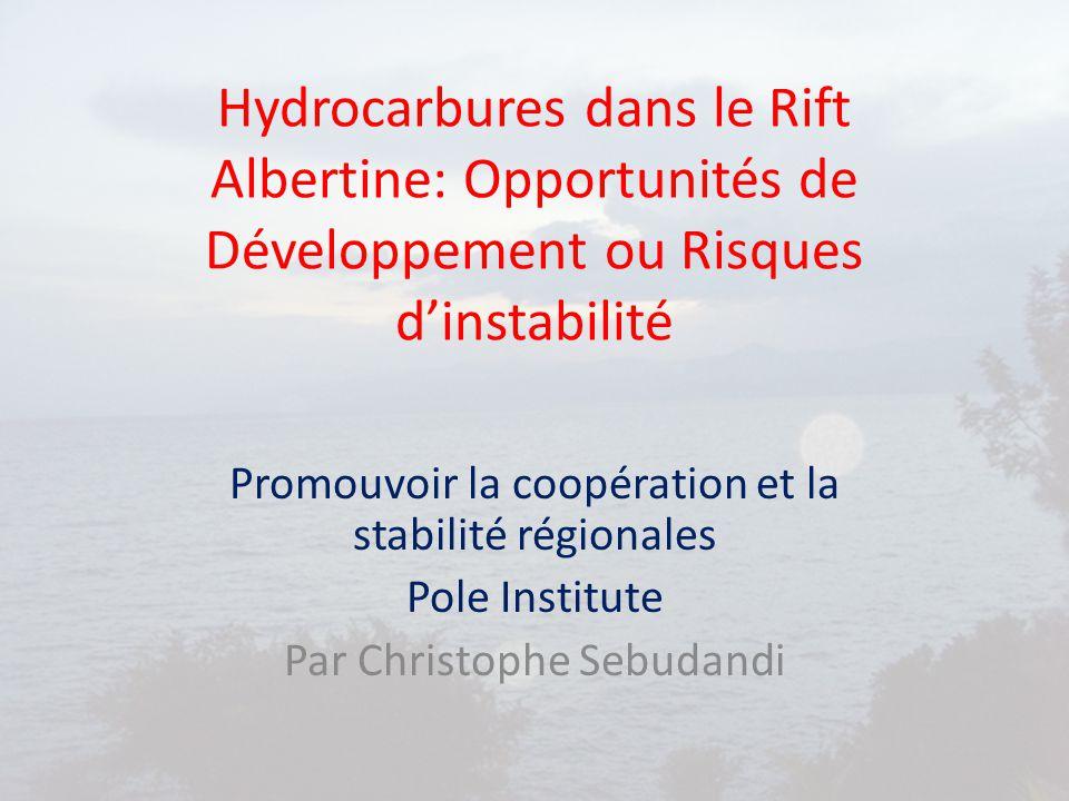 Hydrocarbures dans le Rift Albertine: Opportunités de Développement ou Risques d'instabilité Promouvoir la coopération et la stabilité régionales Pole