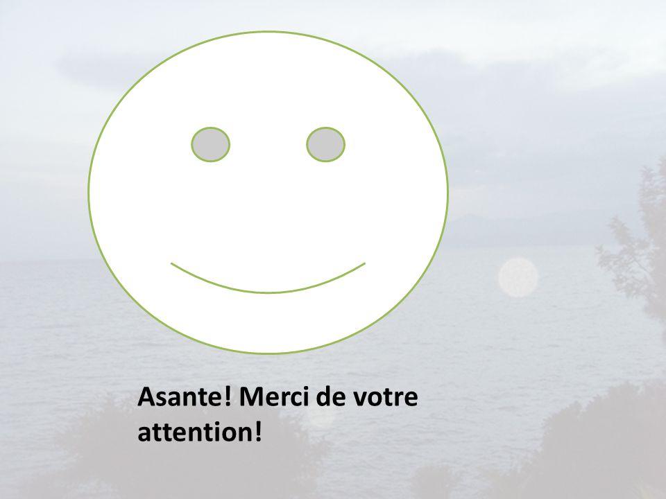 Asante! Merci de votre attention!