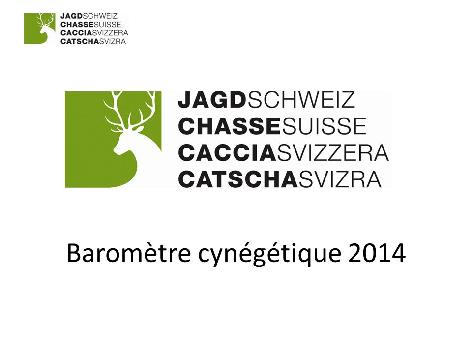 Baromètre cynégétique 2014