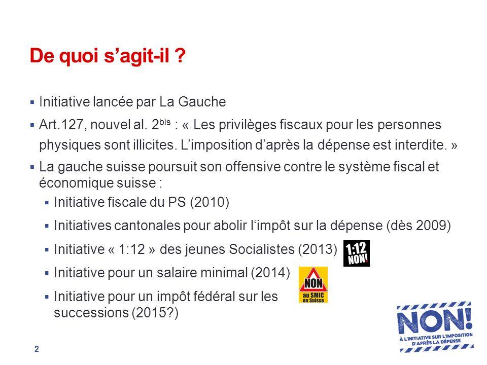 De quoi s'agit-il .  Initiative lancée par La Gauche  Art.127, nouvel al.