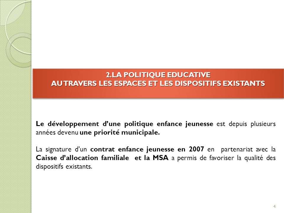 A/Les dispositifs existants 5