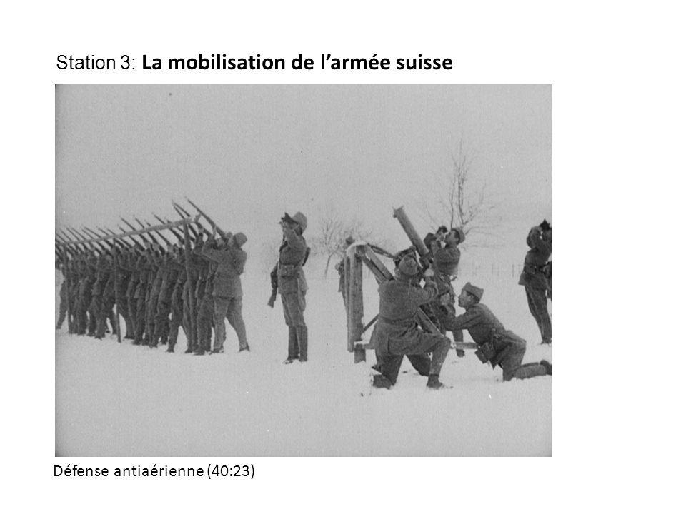 Défense antiaérienne (40:23) Station 3: La mobilisation de l'armée suisse
