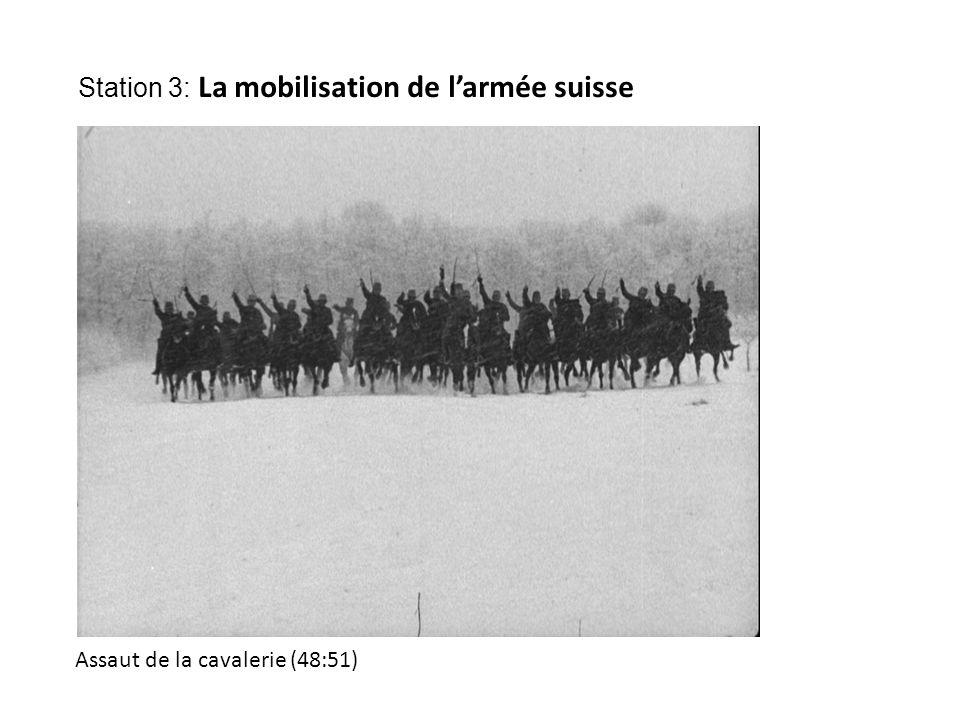 Assaut de la cavalerie (48:51) Station 3: La mobilisation de l'armée suisse
