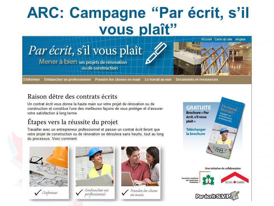 """ARC: Campagne """"Par écrit, s'il vous plaît"""" 7"""