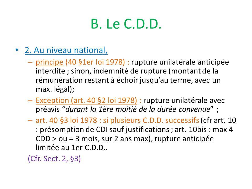 B. Le C.D.D. 2.