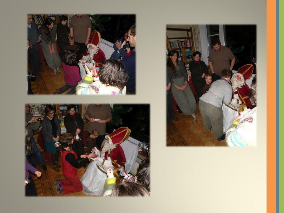 Après quelques réprimandes et surtout des félicitations, St- Nicolas a offert ses cadeaux aux maisons… … mais le plus important c'était les BONBONS!!!!!.