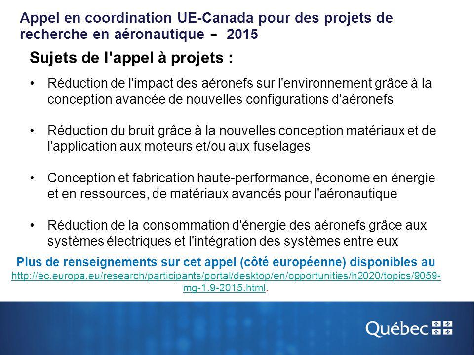 Sujets de l'appel à projets : Réduction de l'impact des aéronefs sur l'environnement grâce à la conception avancée de nouvelles configurations d'aéron