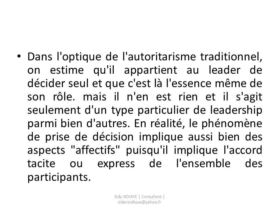 1 - Les interventions du leader visant à la stimulation et au soutien du groupe.