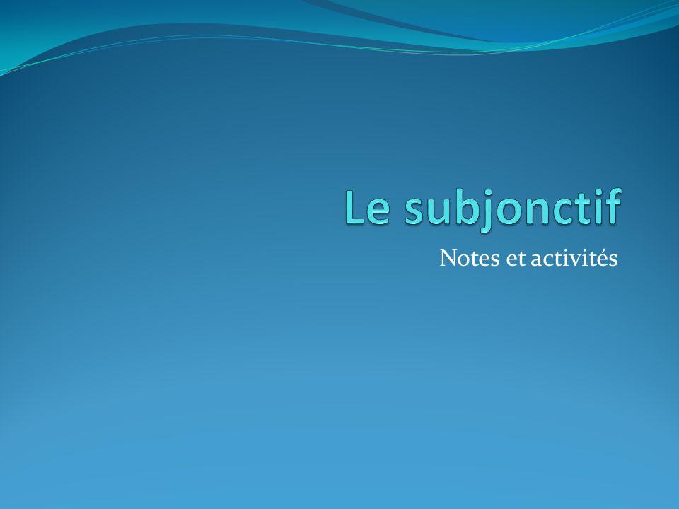 Notes et activités
