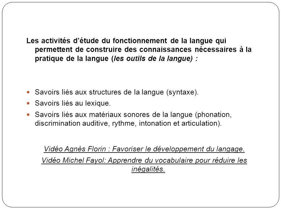 Vidéo Agnès Florin : Favoriser le développement du langage.