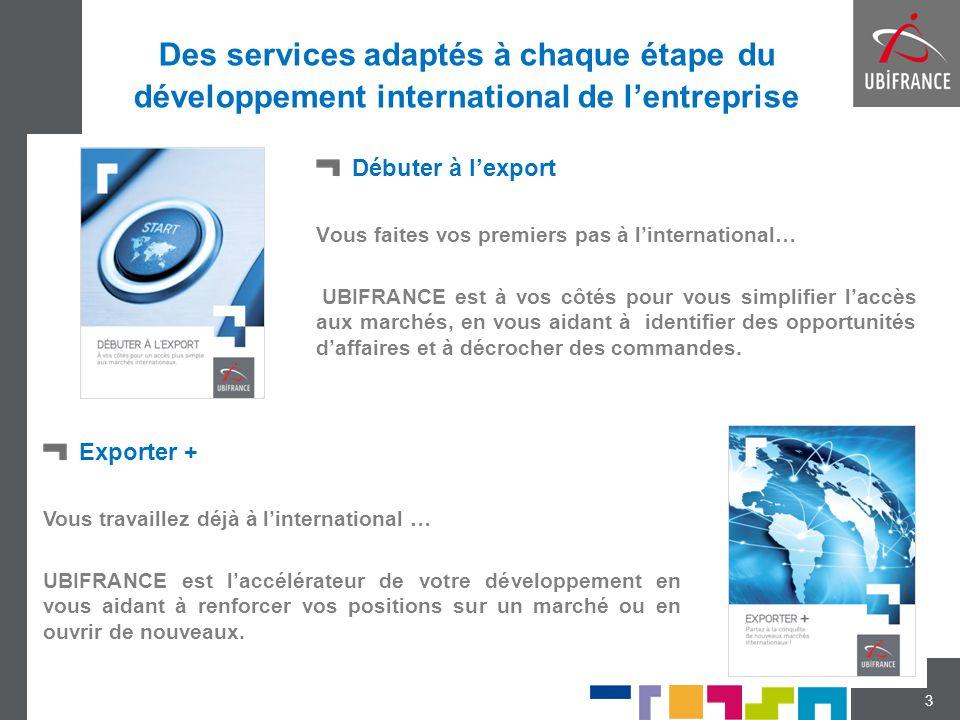 Des services adaptés à chaque étape du développement international de l'entreprise Débuter à l'export Vous faites vos premiers pas à l'international…