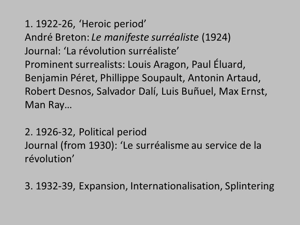 Tanguy, Miró, Morise, Man Ray: Cadavre exquis (1926-27)