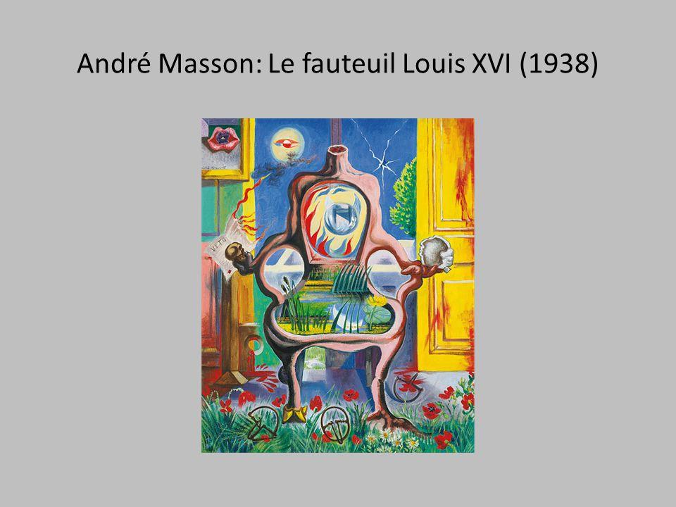 André Masson: Le fauteuil Louis XVI (1938)