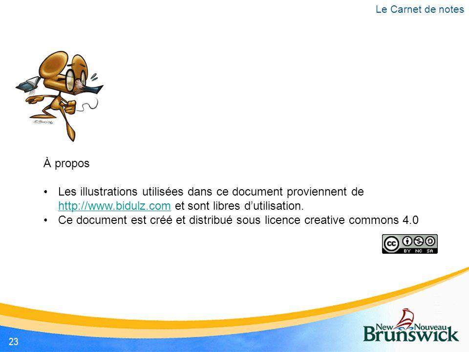 À propos Les illustrations utilisées dans ce document proviennent de http://www.bidulz.com et sont libres d'utilisation. http://www.bidulz.com Ce docu