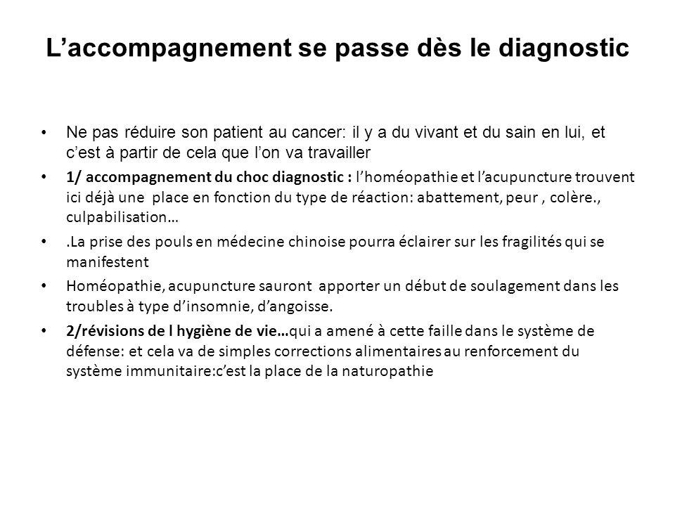 L'accompagnement se passe dès le diagnostic Ne pas réduire son patient au cancer: il y a du vivant et du sain en lui, et c'est à partir de cela que l'
