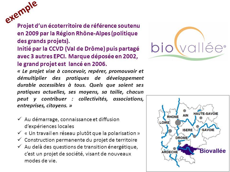 Projet d'un écoterritoire de référence soutenu en 2009 par la Région Rhône-Alpes (politique des grands projets). Initié par la CCVD (Val de Drôme) pui