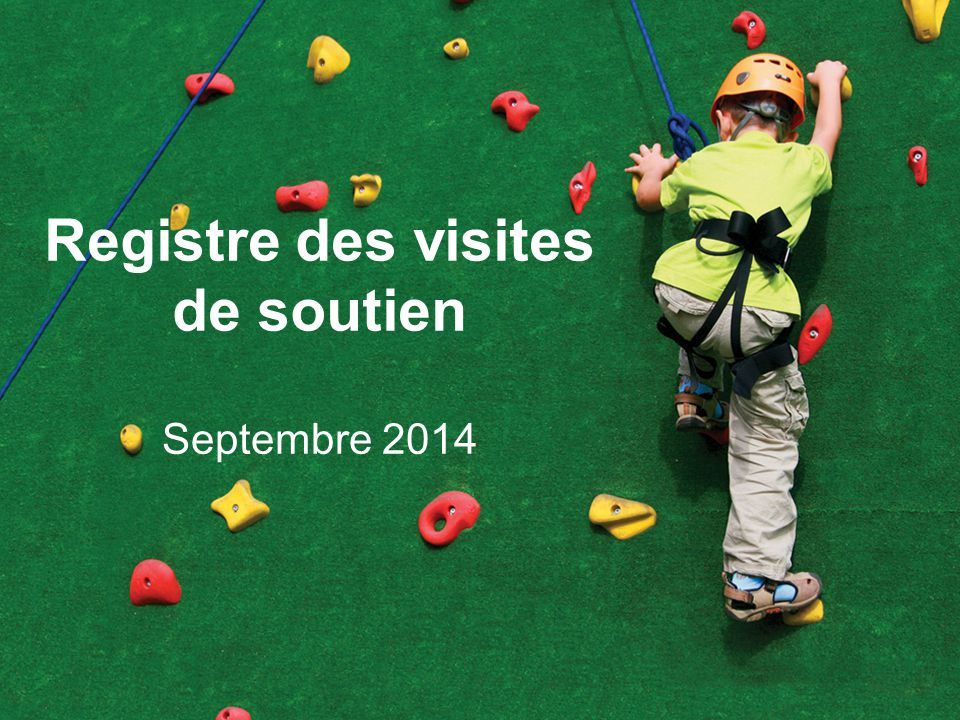 Registre des visites de soutien Septembre 2014
