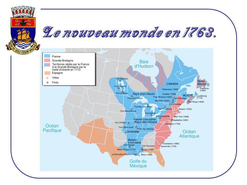 La Nouvelle-France, à l'époque, était un empire qui couvrait tout l'Est du Canada et près de la moitié du territoire actuel des États-Unis. Le nouveau