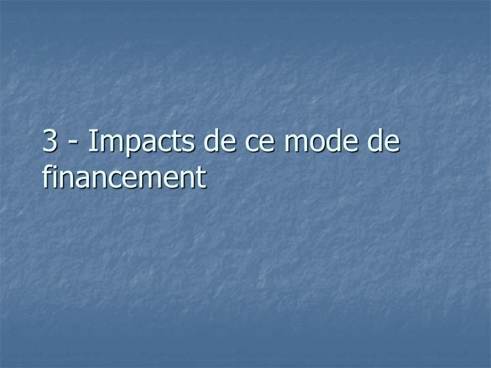 3 - Impacts de ce mode de financement