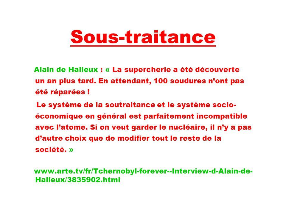 Sous-traitance Alain de Halleux : « La supercherie a été découverte un an plus tard.
