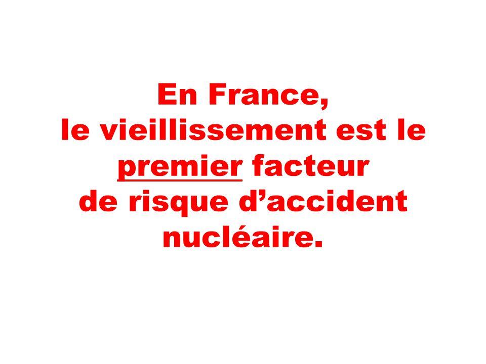 En France, le vieillissement est le premier facteur de risque d'accident nucléaire.